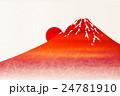 富士山 日の出 年賀状 背景  24781910