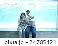 人物 親子 水族館の写真 24785421