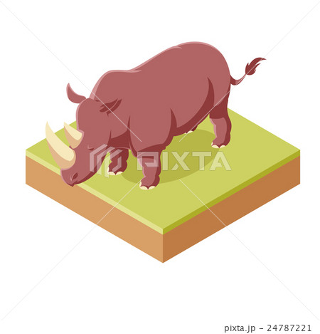 Rhinoceros isometric icon 24787221
