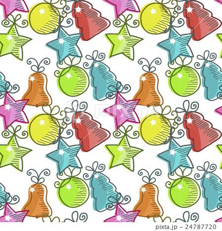 Christmas seamless pattern のイラスト素材 [24787720] - PIXTA