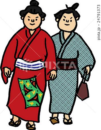 浴衣姿のお相撲さんのイラスト素材 24791373 Pixta