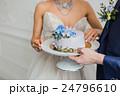 ケーキ 花嫁 ウエディングの写真 24796610