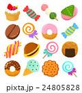 クレヨン お菓子 セットイラスト 24805828