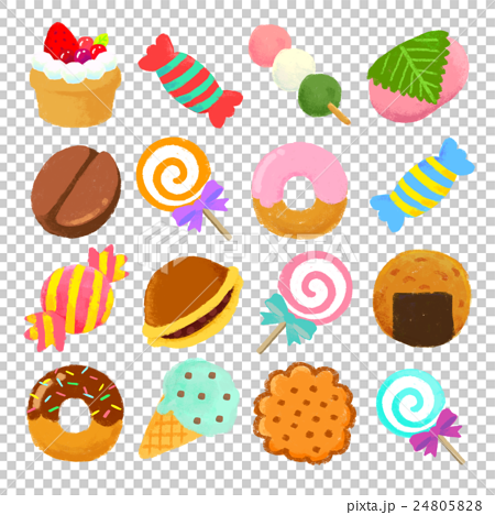 Crayon sweets set illustration 24805828