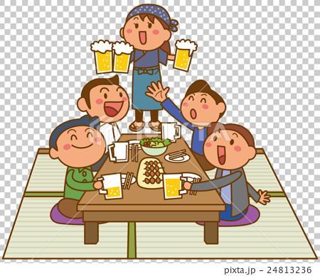 居酒屋のイメージイラスト 24813236