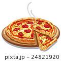 ピザ ピッツァ 食のイラスト 24821920