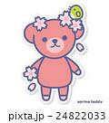 熊 春 桜のイラスト 24822033