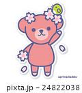 熊 春 桜のイラスト 24822038