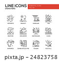 Disasters - line design icons set 24823758