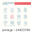 Disasters - line design icons set 24823760