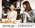 カフェ 女性 ビジネスウーマンの写真 24844247