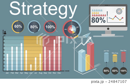 Strategy Target Vision Mission Marketing Conceptのイラスト素材 [24847107] - PIXTA