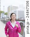 女性 ジョギング フィットネスの写真 24847306