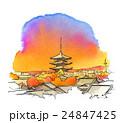 夕焼け空の京都 24847425