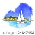 海から見た江ノ島 24847458