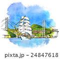 長崎港の帆船 24847618