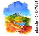 三方分山から見た秋の富士山 24847916