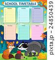 Weekly school timetable subject 1 24850439