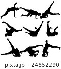 Silhouettes breakdancer on a white background 24852290