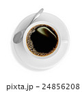 Top view of a cup of coffee, isolate on white 24856208