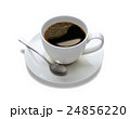 Top view of a cup of coffee, isolate on white 24856220