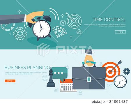 Flat business background. Portfolio. Timeのイラスト素材 [24861487] - PIXTA