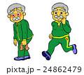 ジョギングするシニア 24862479