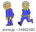 ジョギングするシニア 24862482