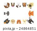 小型犬のフレーム 長方形 24864851