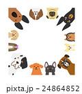 大型犬と小型犬のフレーム 正方形 24864852