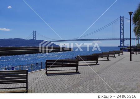 垂水、淡路島、明石 海峡 大橋、マリンピア神戸、景色、橋、海、快晴 24865516