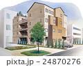 集合住宅・医療介護施設のスケッチパース 24870276