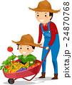 農耕 少年 おとうさんのイラスト 24870768
