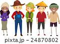 農耕 ダイバーシティ 農民のイラスト 24870802