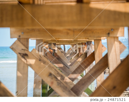 Under the old wooden bridge 24871521