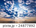 日出、雲、風景、沖縄。 24877892