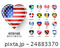 Raster flags icon of the countries North America. 24883370