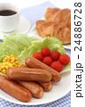 クロワッサンとコーヒーとウインナー 24886728