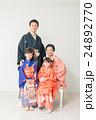 七五三 家族 晴れ着の写真 24892770