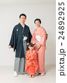 七五三 家族 記念写真の写真 24892925