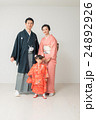 七五三 家族 記念写真の写真 24892926