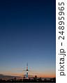 夕焼けに佇む東京スカイツリー 荒川河川敷から 24895965