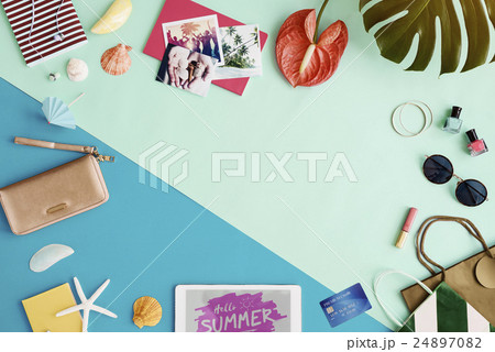 Summer Chill Collection Colorful Leisure Fresh Conceptの写真素材 [24897082] - PIXTA