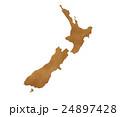 ニュージーランド 地図 イラスト 24897428