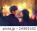young couple in love outdoor,illustration 24903102
