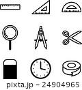 文房具 アイコン ベクターのイラスト 24904965