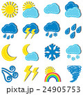 気象 クラウド にじのイラスト 24905753