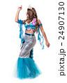 Carnival dancer woman dressed as a mermaid posing 24907130