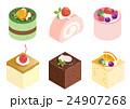 ケーキ 洋菓子 ショートケーキのイラスト 24907268