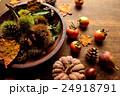 毬栗 栗 柿の写真 24918791